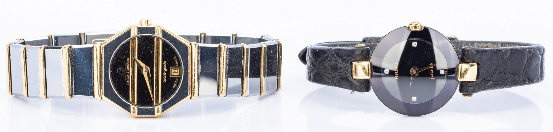 Lot 148: Lady's Baume & Mercier & RADO Watches, 2 items