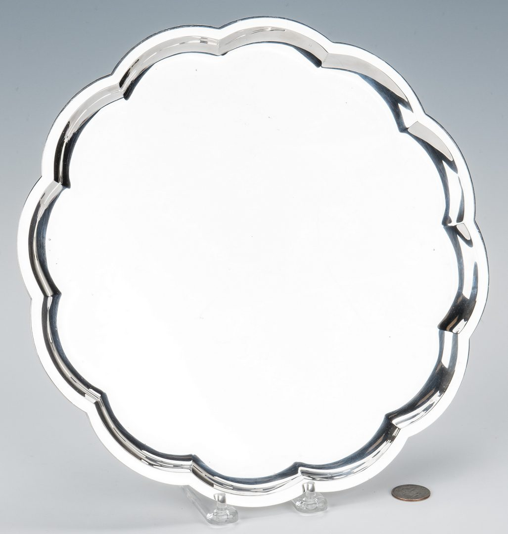 Lot 153: Industria Argentina Round Sterling Silver Tray