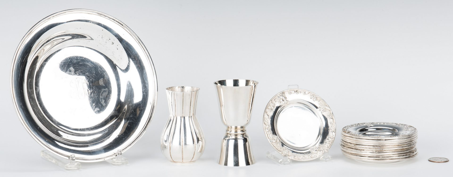 Lot 154: 14 Kirk & Son Sterling Silver Items & 1 more