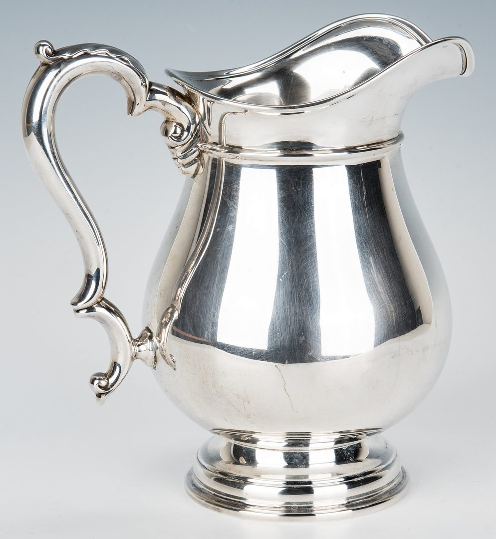 Lot 155: International Co. Sterling Water Pitcher, Beacon Hill