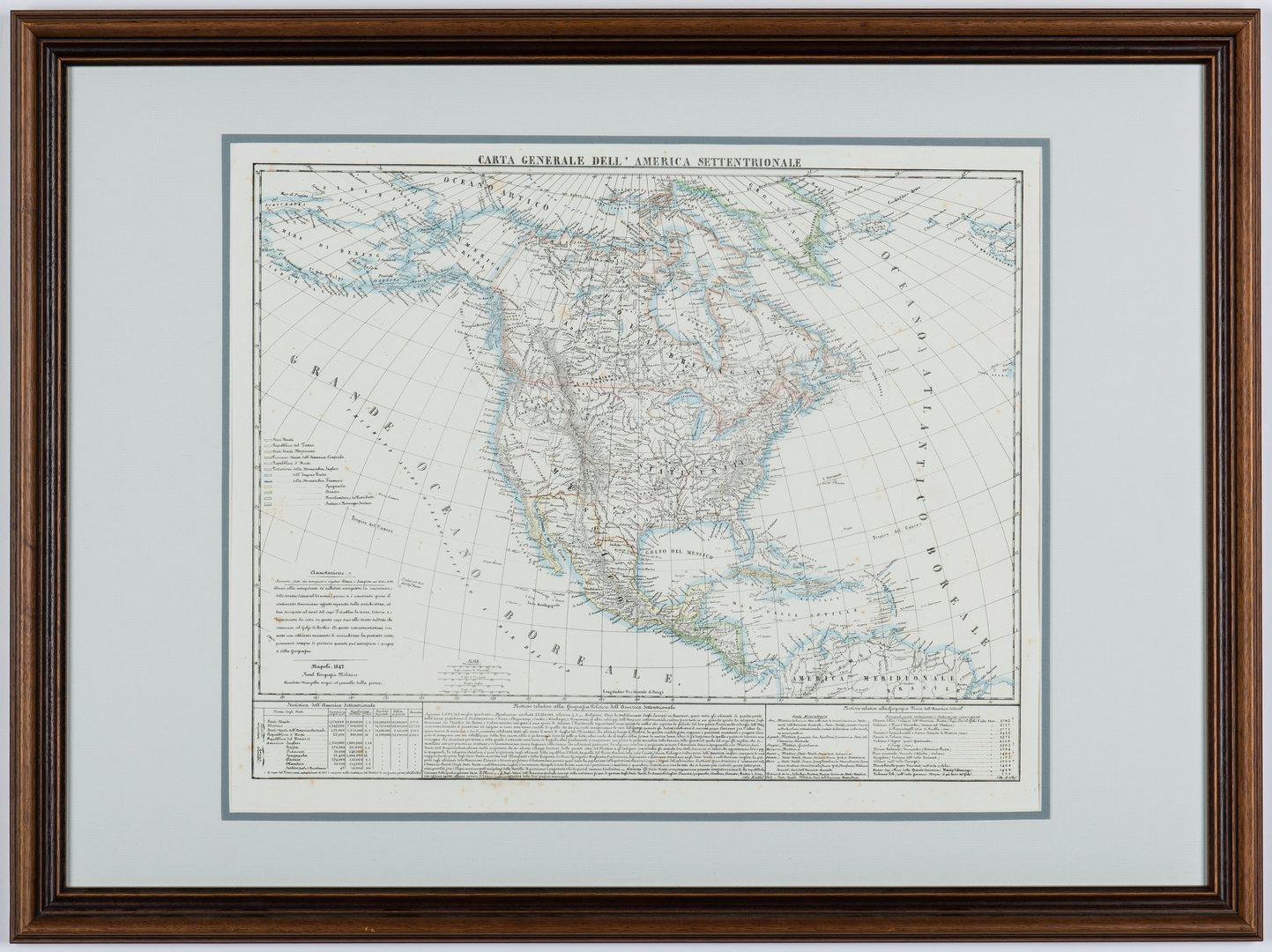 Lot 164: 3 Maps of America, incl. Bowen, Marzolla