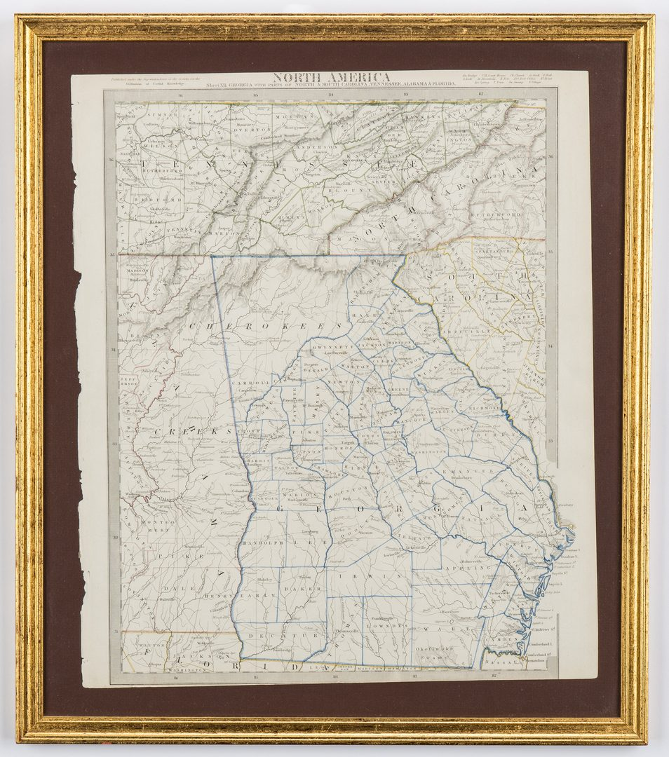 Lot 165: 2 North America Maps, incl. Weiland, Walker