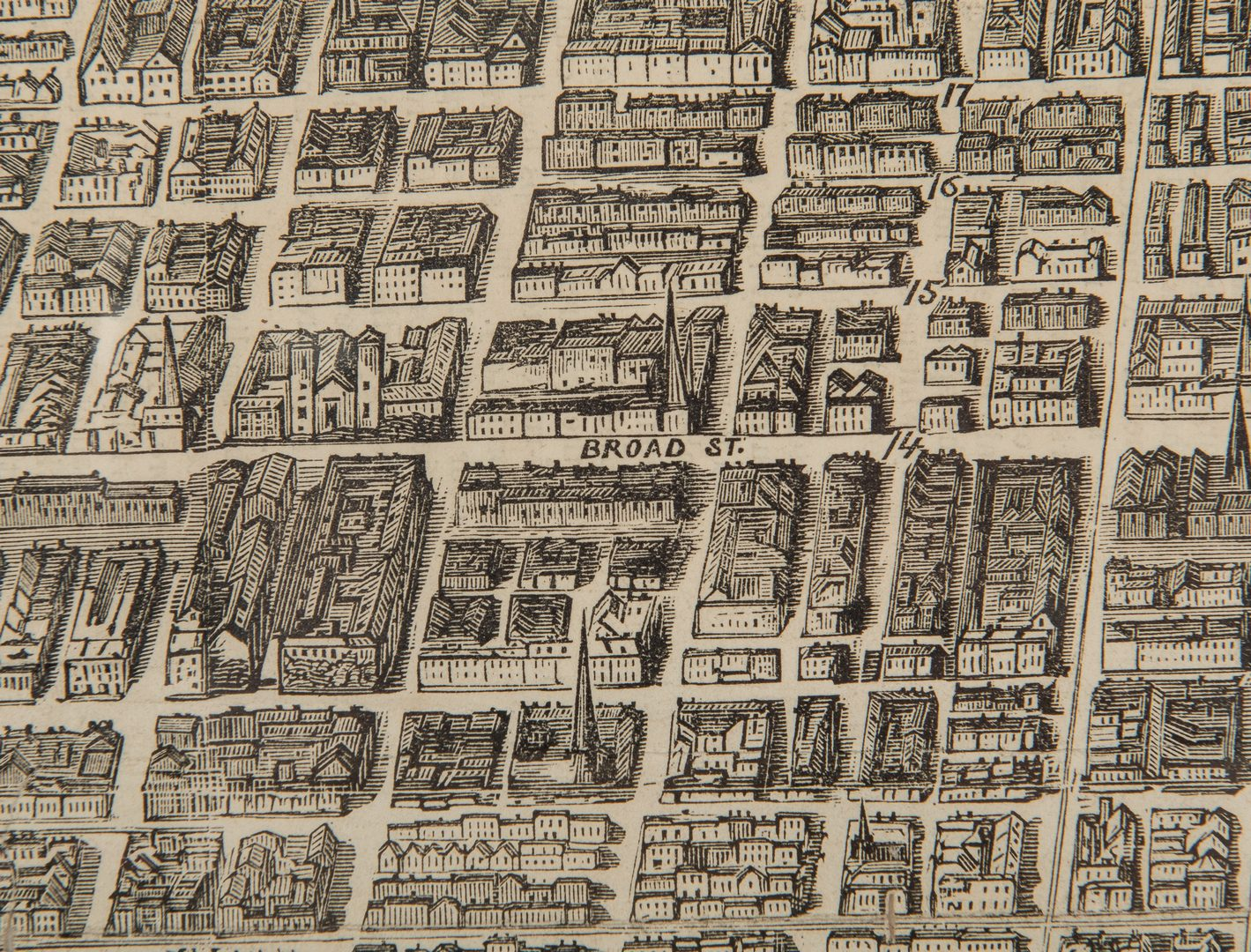Lot 166: Harper's Weekly, Bird's Eye View Map of Philadelphia, 1876