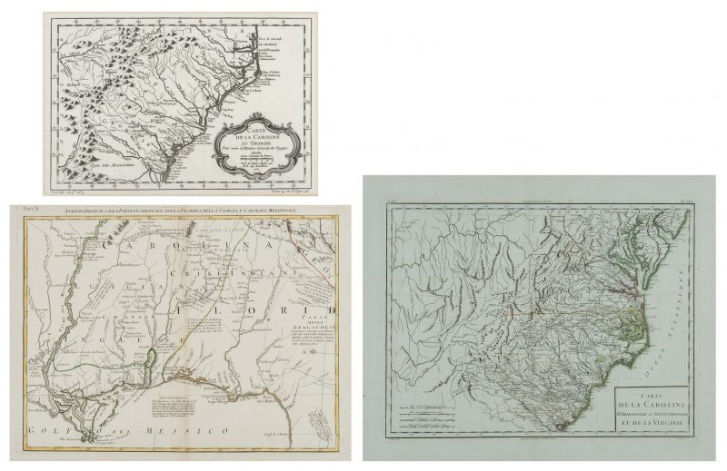 Lot 167: 3 Southern Maps, inc. Bellin, Tardieu, Zatta