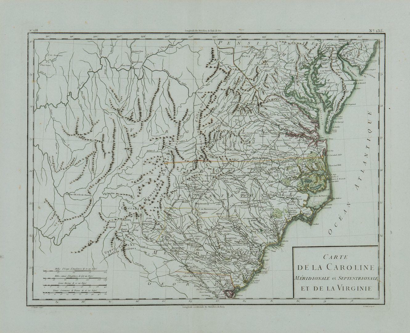 Lot 167: 3 Southern Maps, inc. Bellin, Tardieu, Zatta