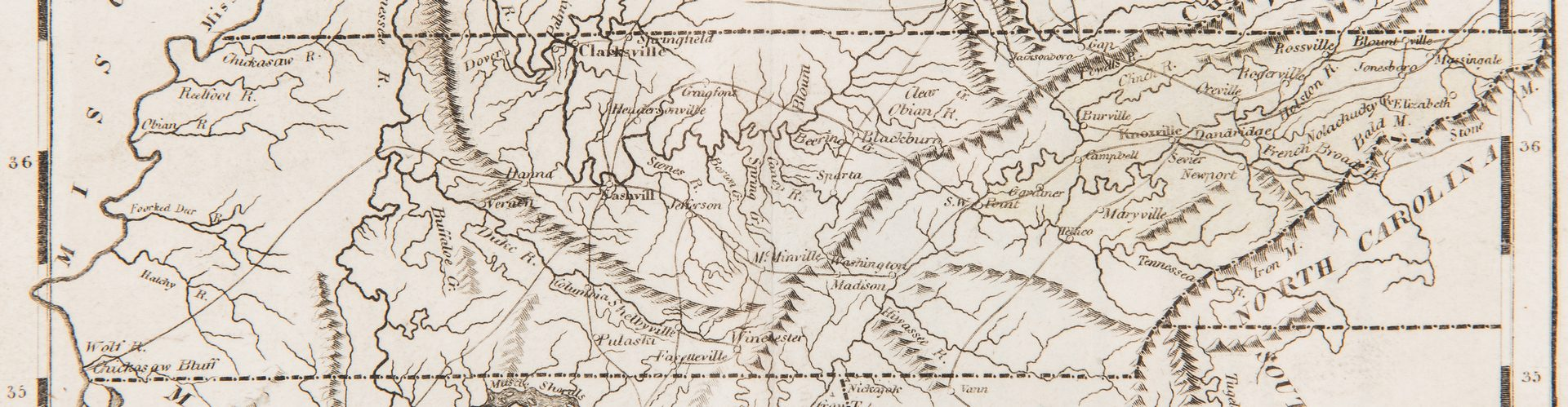 Lot 168: Tennessee Map, 1816 Carey