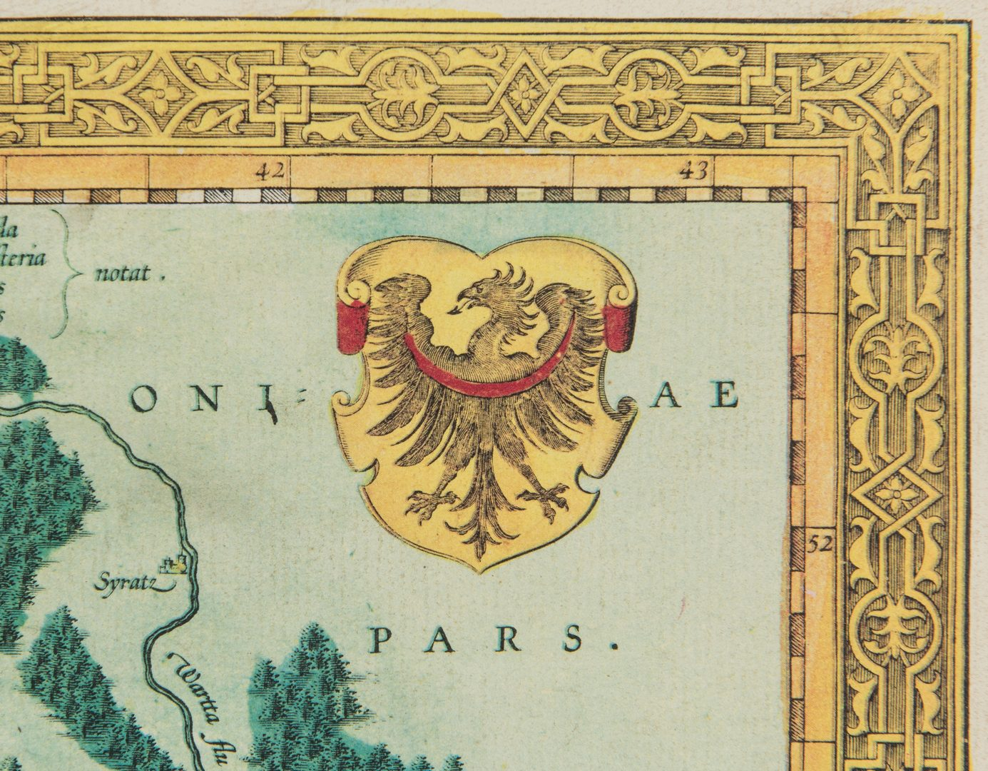 Lot 170: 3 Maps, incl. Helwig, Ortelius, Munster, and Vaugondy