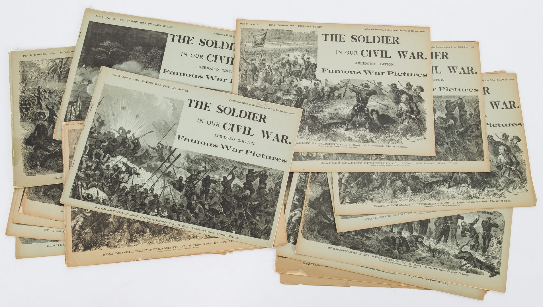 Lot 171: 21 Civil War Related Paper Items, including Harper's Map