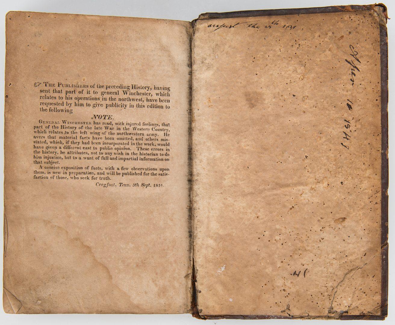 Lot 172: 2 War Books: History, 1816, and Civil War Tactics, 1862