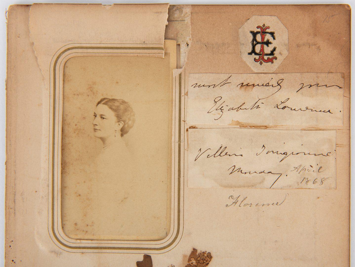 Lot 173: Thomas Buchanan Read autograph, CDVs and book: A