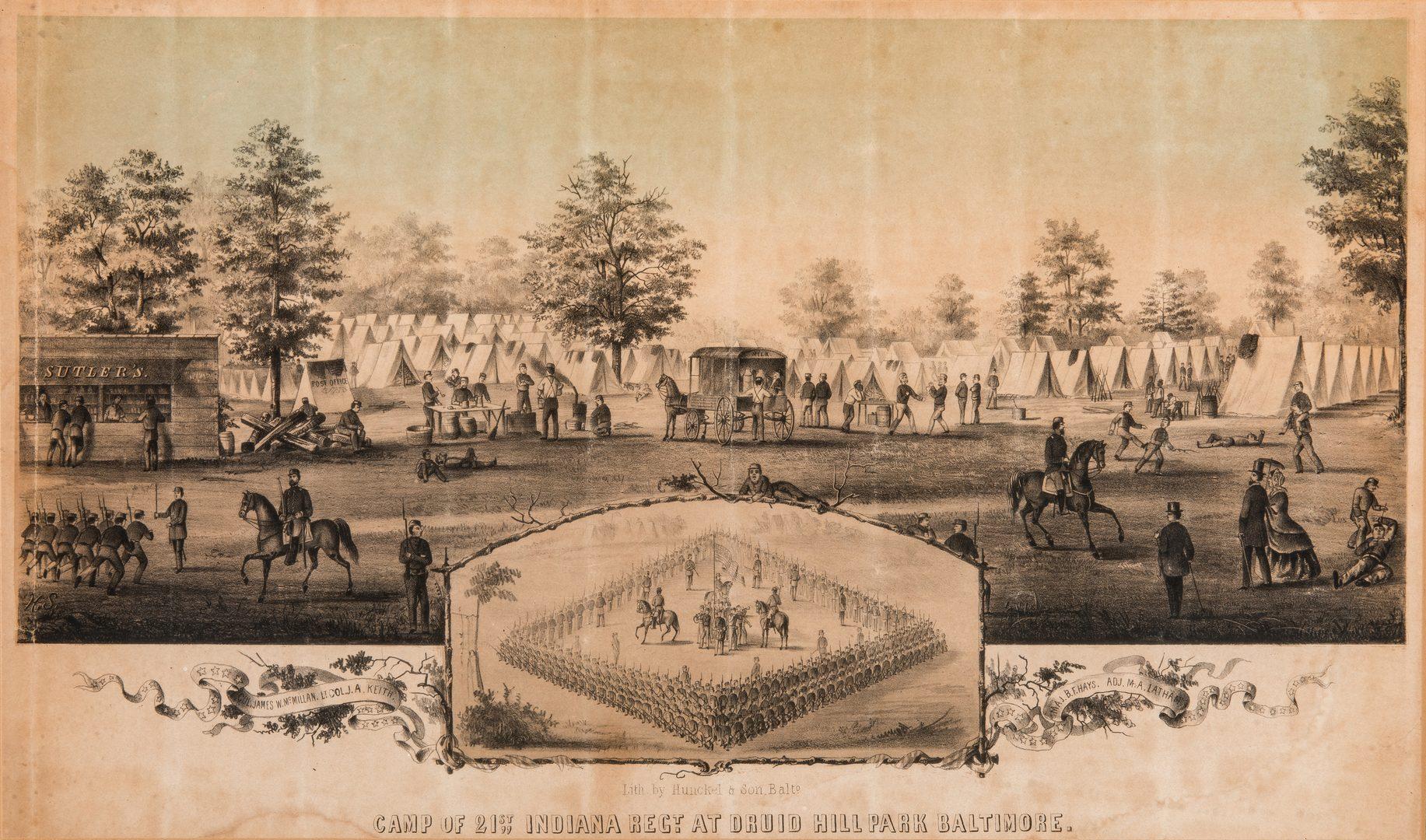 Lot 177: 5 Civil War Prints, incl. Southern Prisons by Sachse