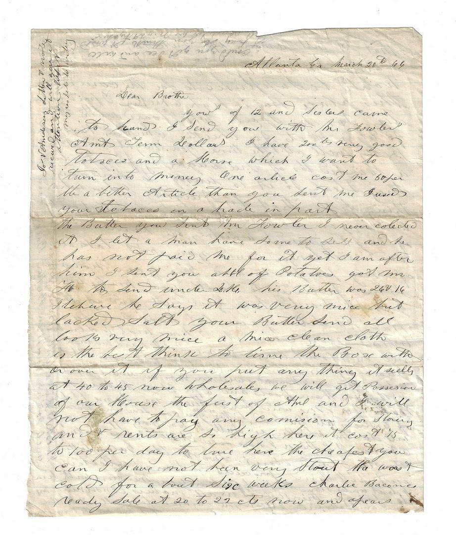 Lot 178: End of Civil War Era Atlanta, GA/TN Archive, Nenney Fami