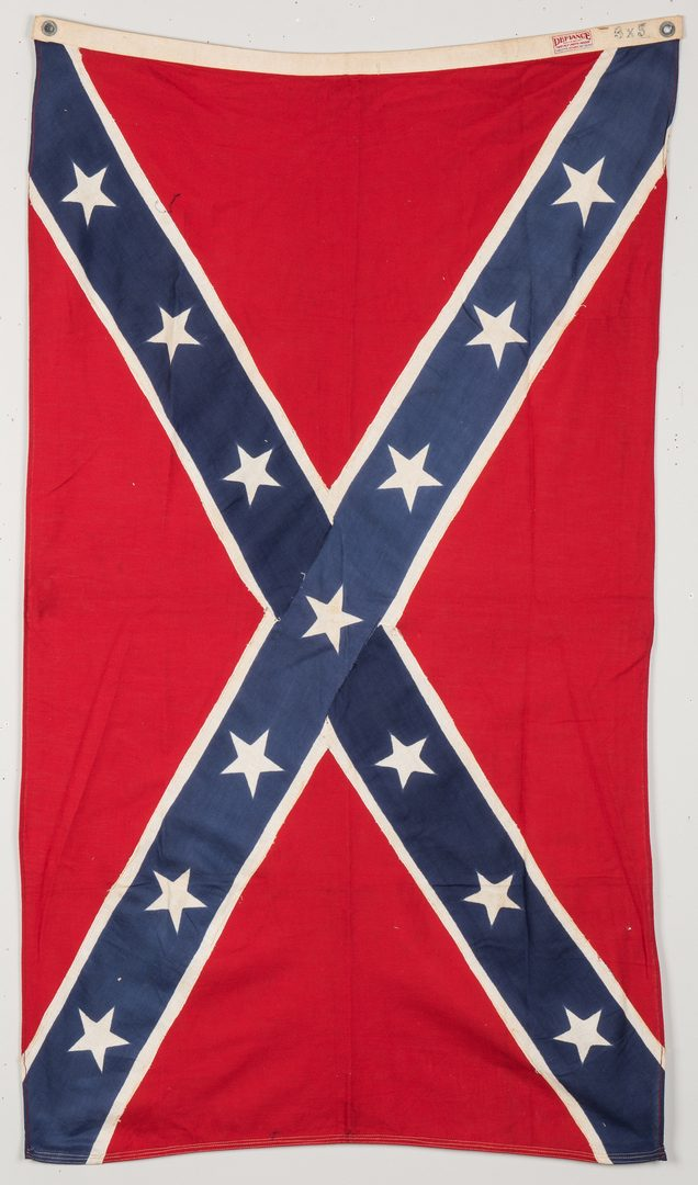 Lot 180: 3 Mid 20th Cent. Confederate Reunion Flags