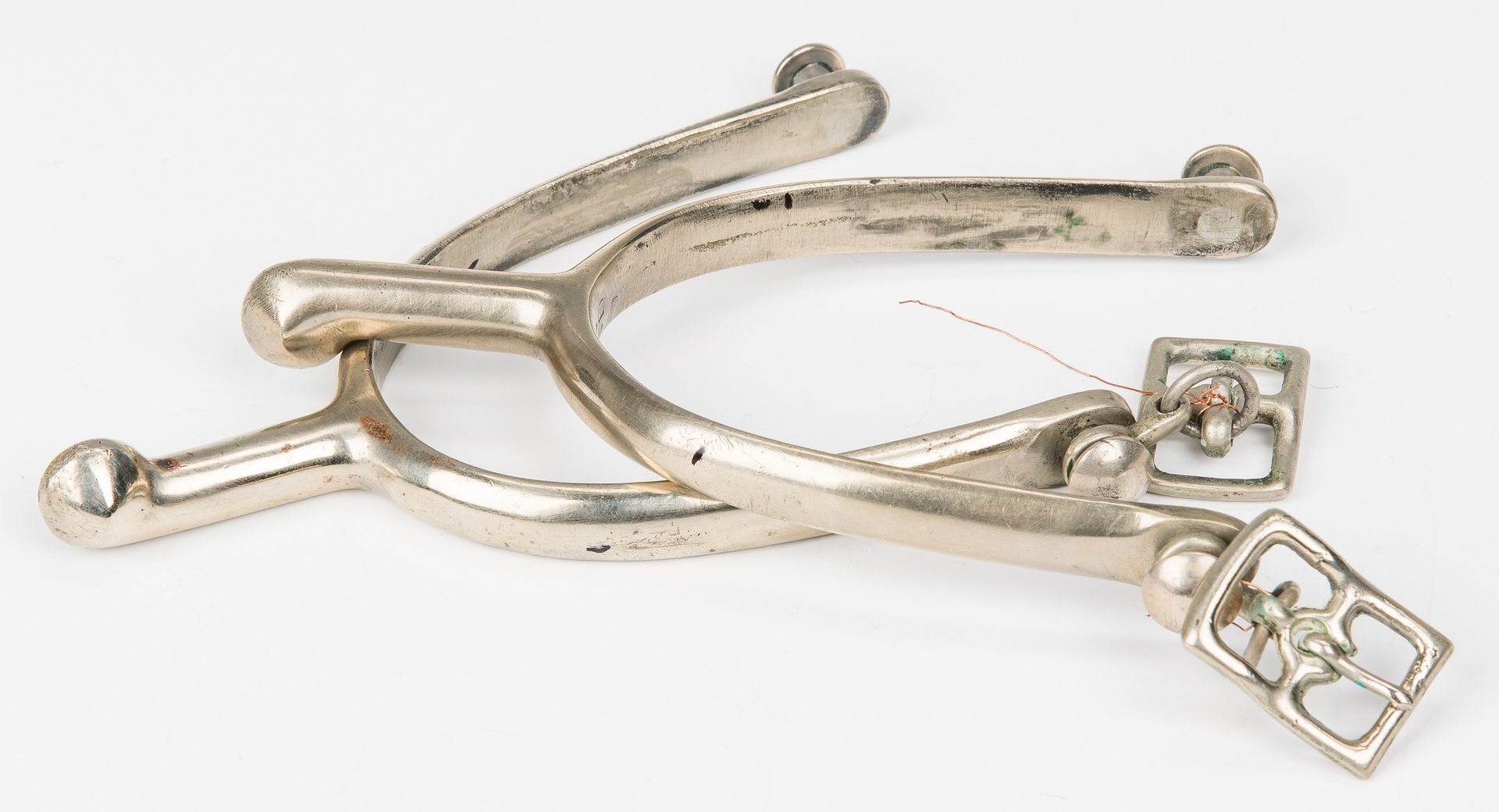 Lot 185: Scrimshaw, Bayonet, U.S. Model 1911 Cavalry Spurs, 3 items
