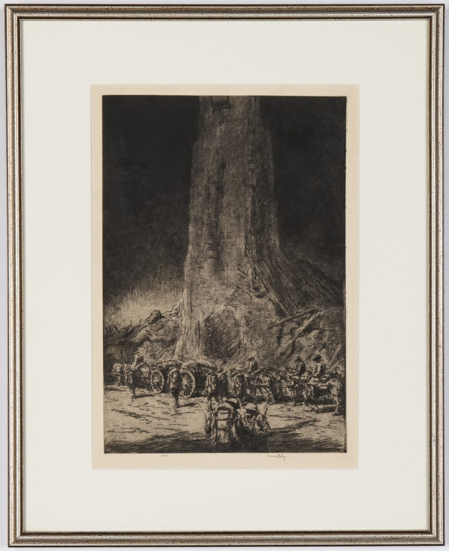 Lot 186: K. Eby Etching, Caissons Go Rolling