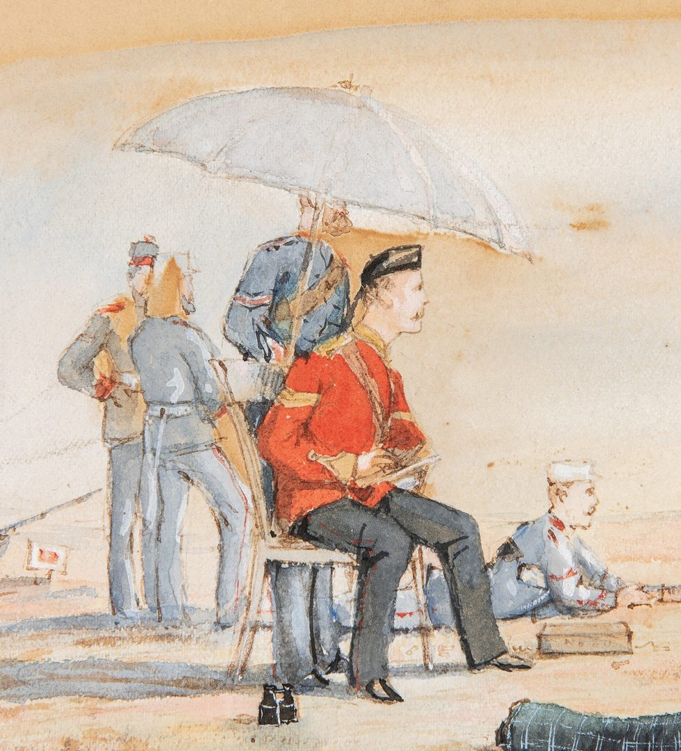 Lot 187: Horatio Gordon Robley watercolor, Wimbledon Shooti
