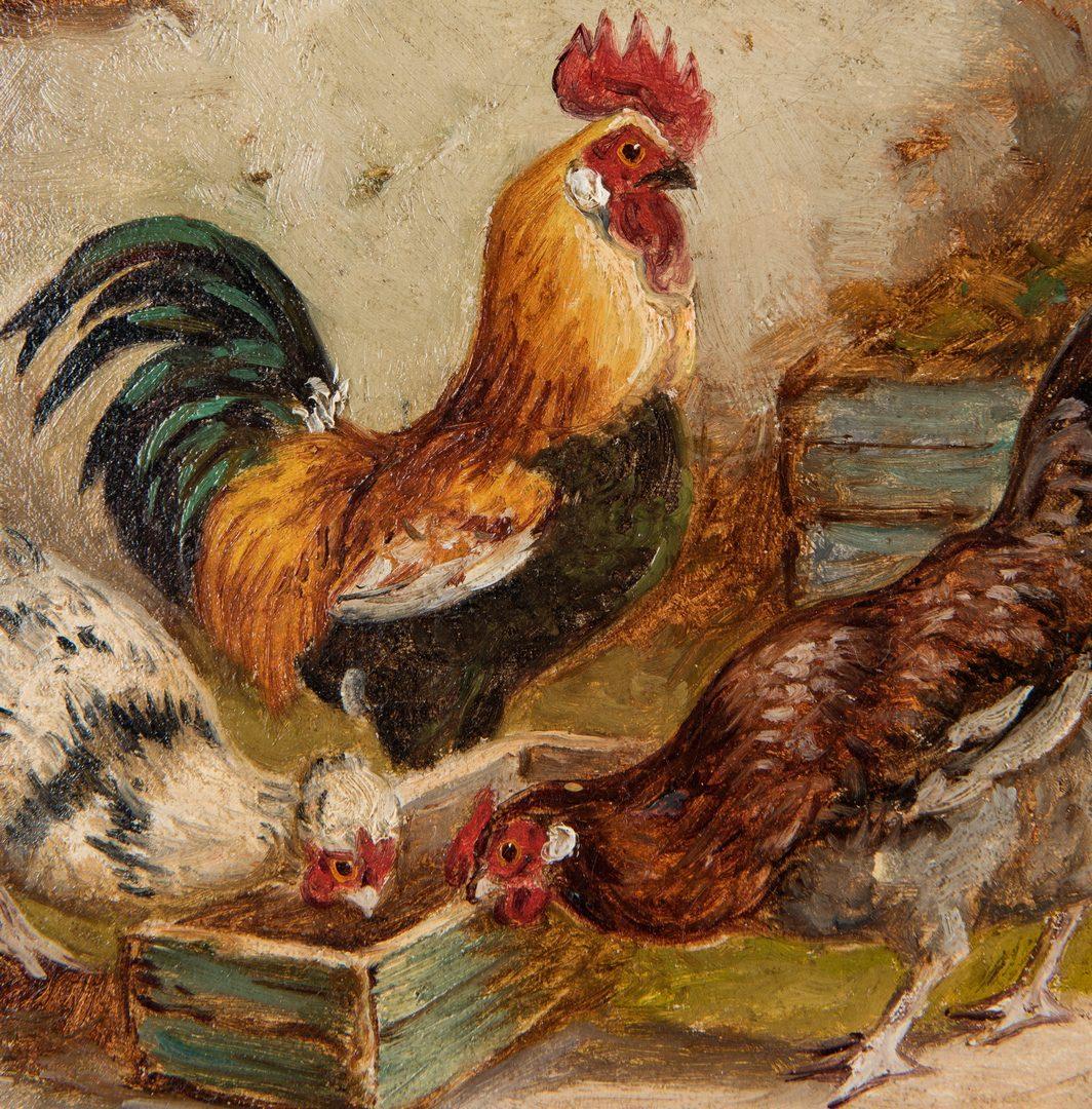 Lot 190: E.S. England, O/C, Farm Scene with Animals