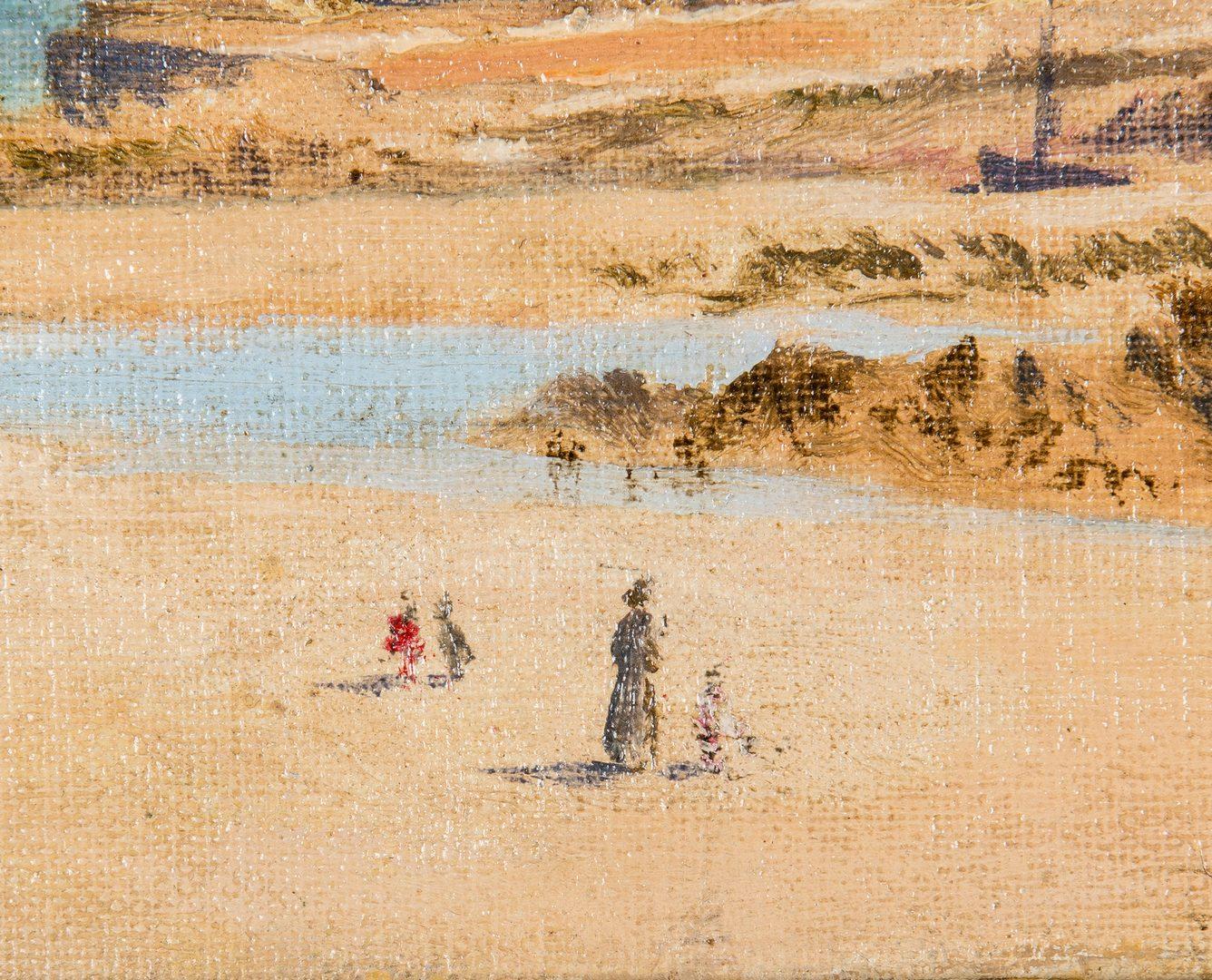 Lot 191: Louis Billiard Oil, Brittany Beach Scene