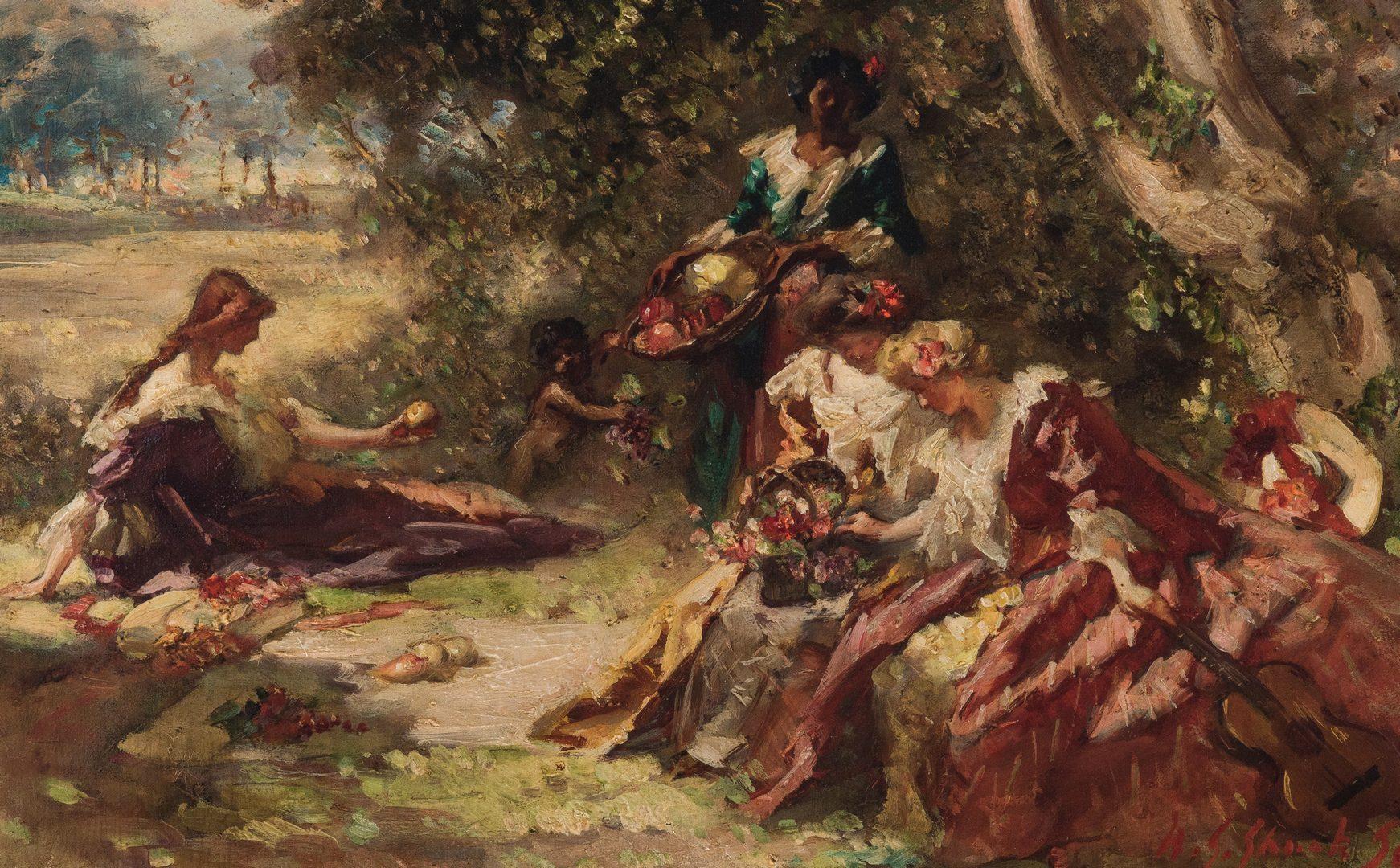 Lot 192: Wm. Somerville Shanks O/C Impressionistic Landscape