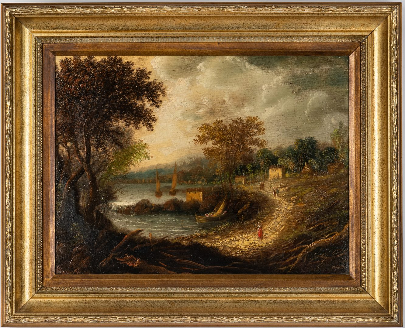 Lot 202: Alfredo Lerains Oil of Canvas Landscape