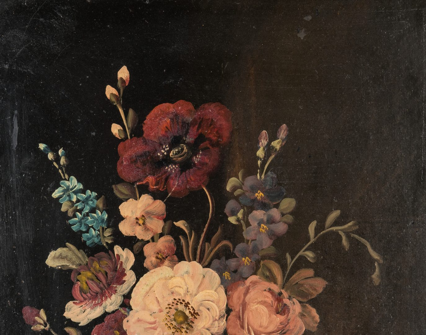 Lot 204: Pair of Floral Still Life O/B Paintings