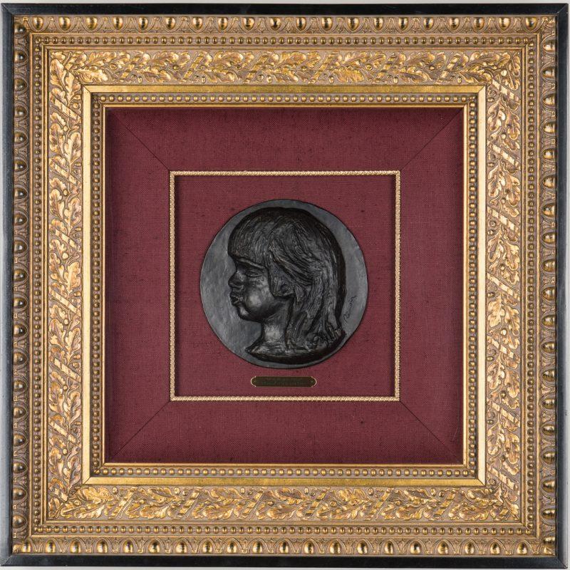 Lot 207: Renoir Bronze Sculpture, Medallion de Coco