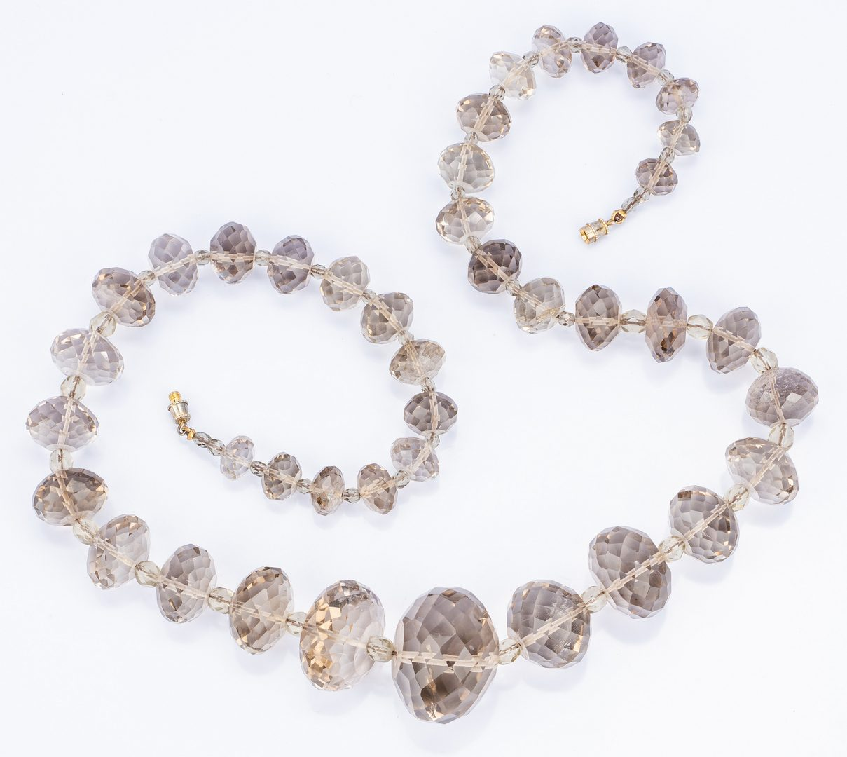Lot 20: 18k Donna del Sol Earrings; 2 Stone Necklaces