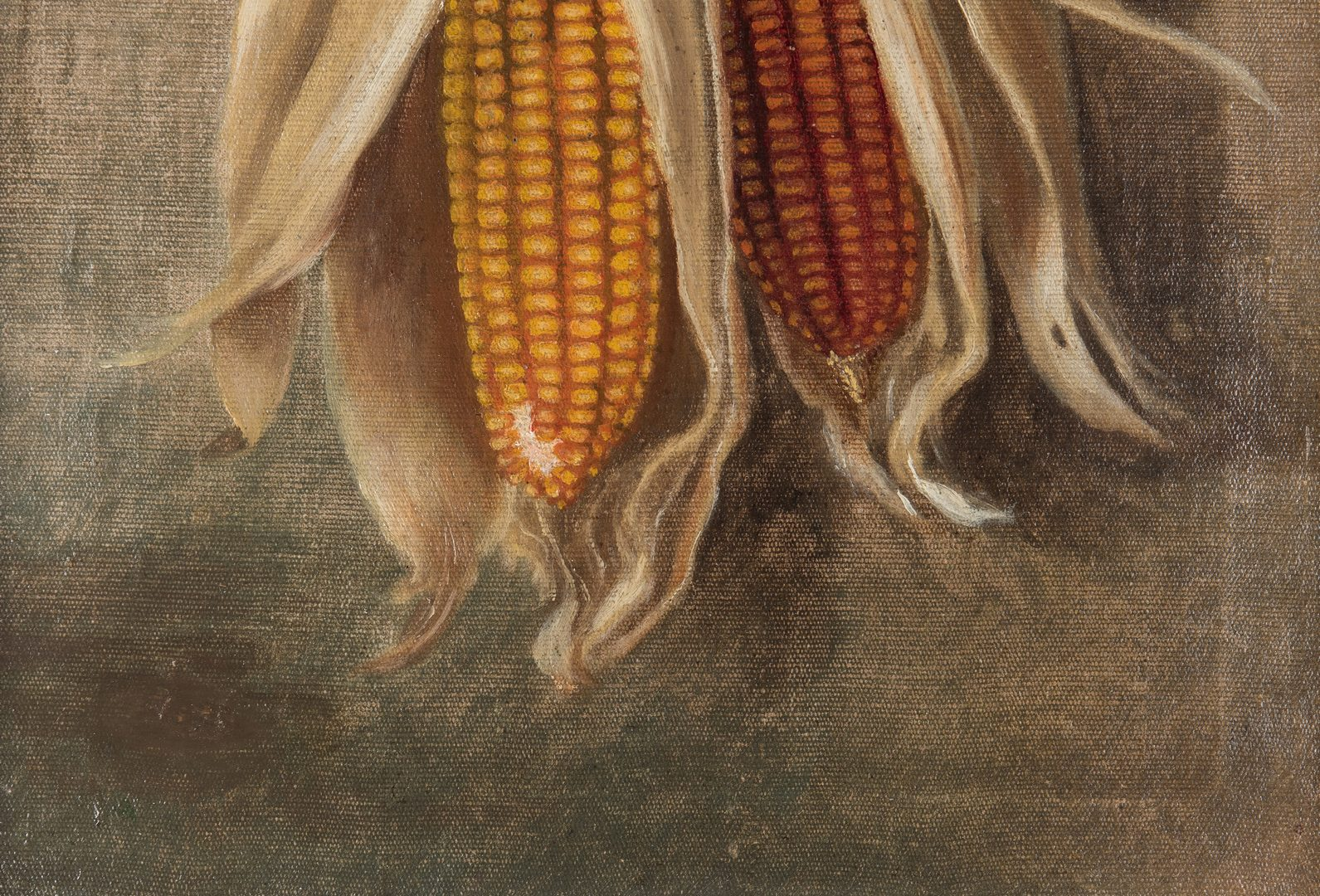 Lot 216: Robert Armstrong O/C, Dried Corn Still Life