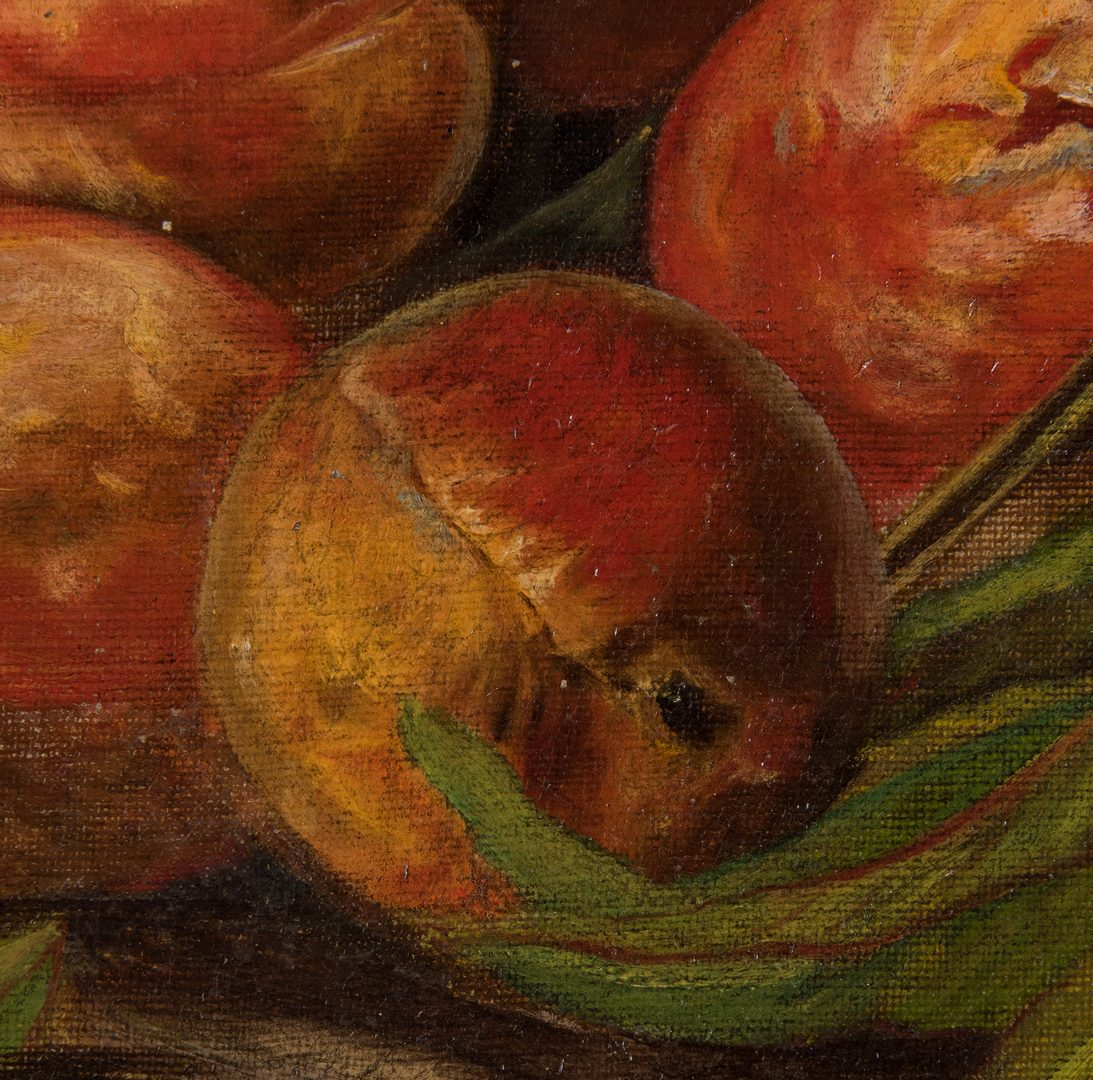 Lot 217: American School, O/C, Still life, Peaches