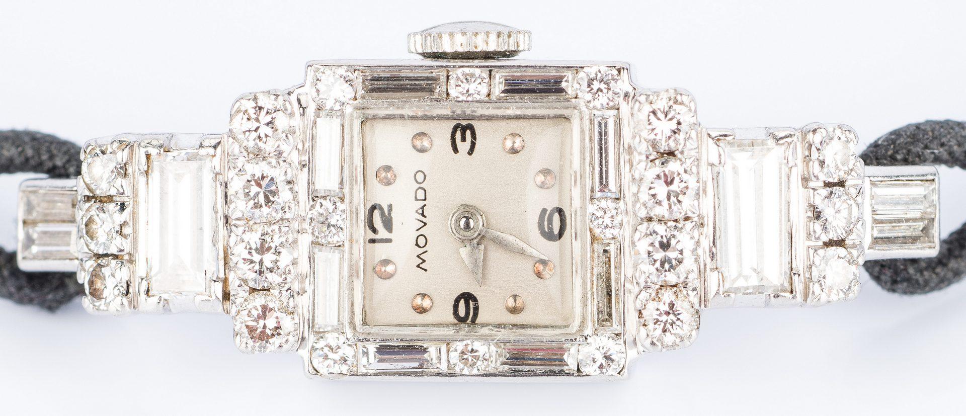 Lot 21: Movado Period Diamond Dress Watch w/ Longines Diamond Dress Watch