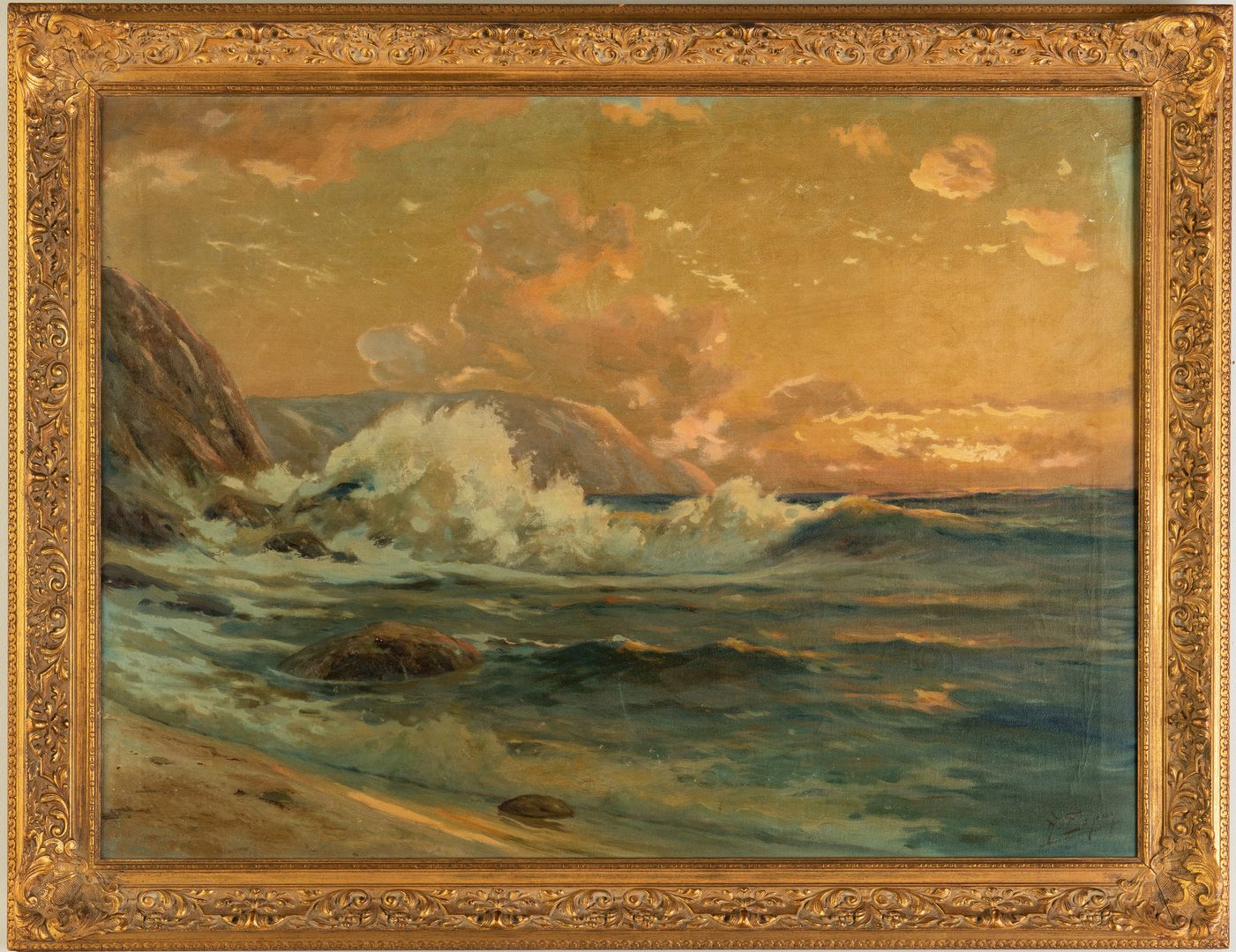 Lot 223: Angel Espoy Oil on Canvas Seascape