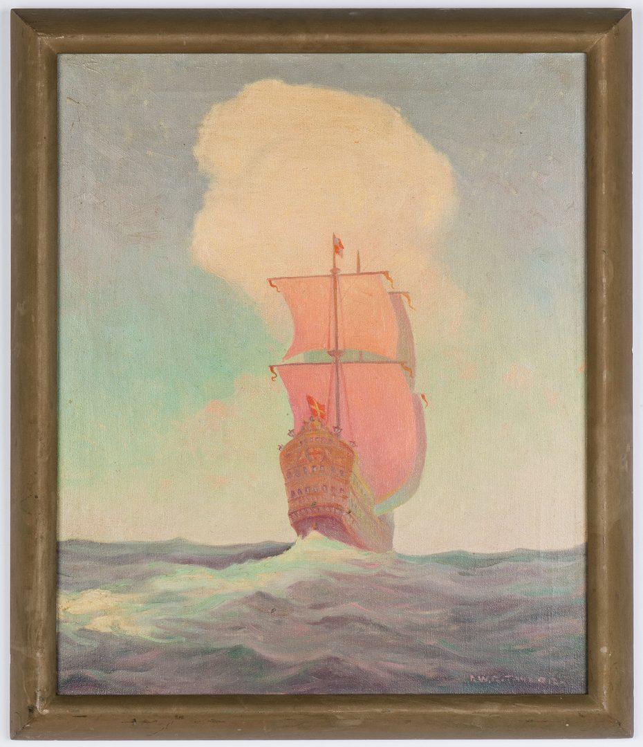 Lot 224: R.W.R. Taylor O/C, Sailing Ship