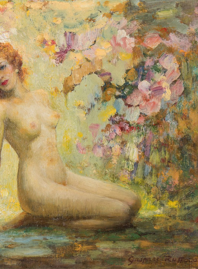 Lot 225: 2 Gaspare Ruffalo O/B Nude Paintings