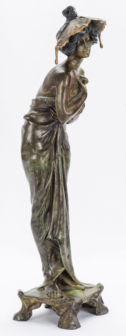 Lot 228: Art Nouveau Bronze, after Lucien Alliot