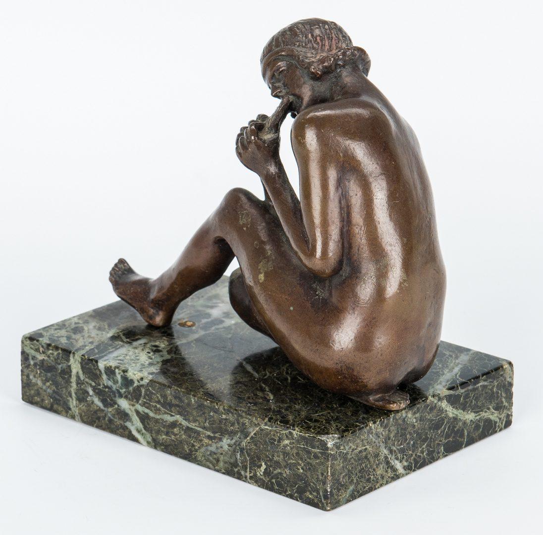Lot 229: After Maude Sherwood Jewett, Bronze Sculpture of Seated Lady