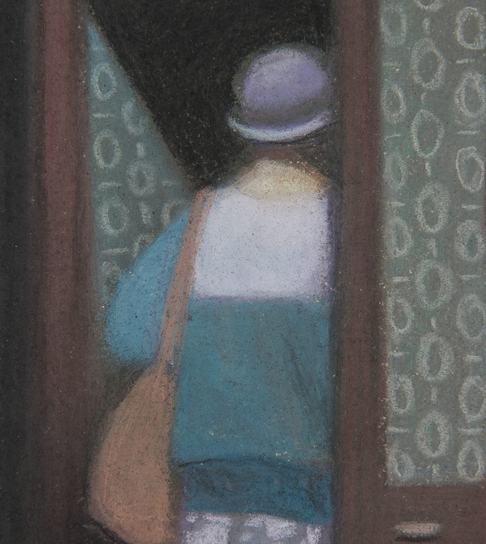 "Lot 230: Gary R. Kelley Pastel Painting, ""Une Bijouterie"""