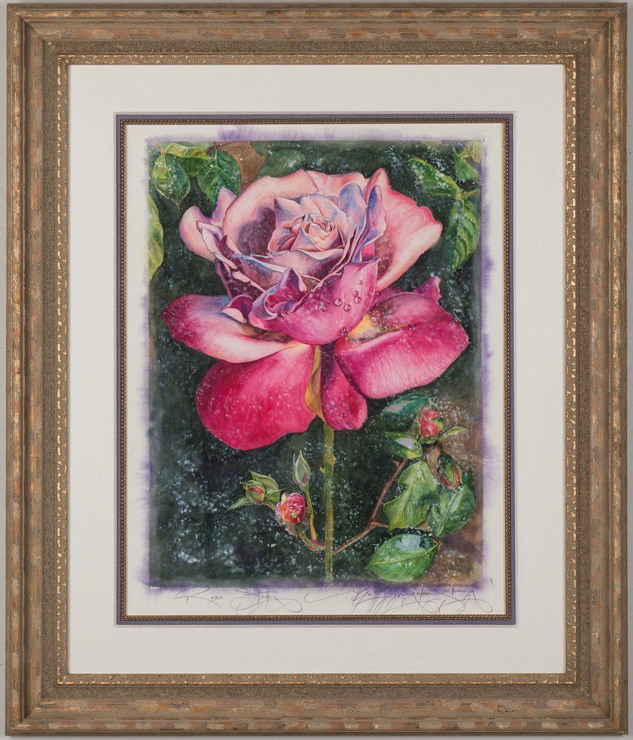 Lot 232: 2 B. Livingstone-Strong Watercolors, Les Fleurs