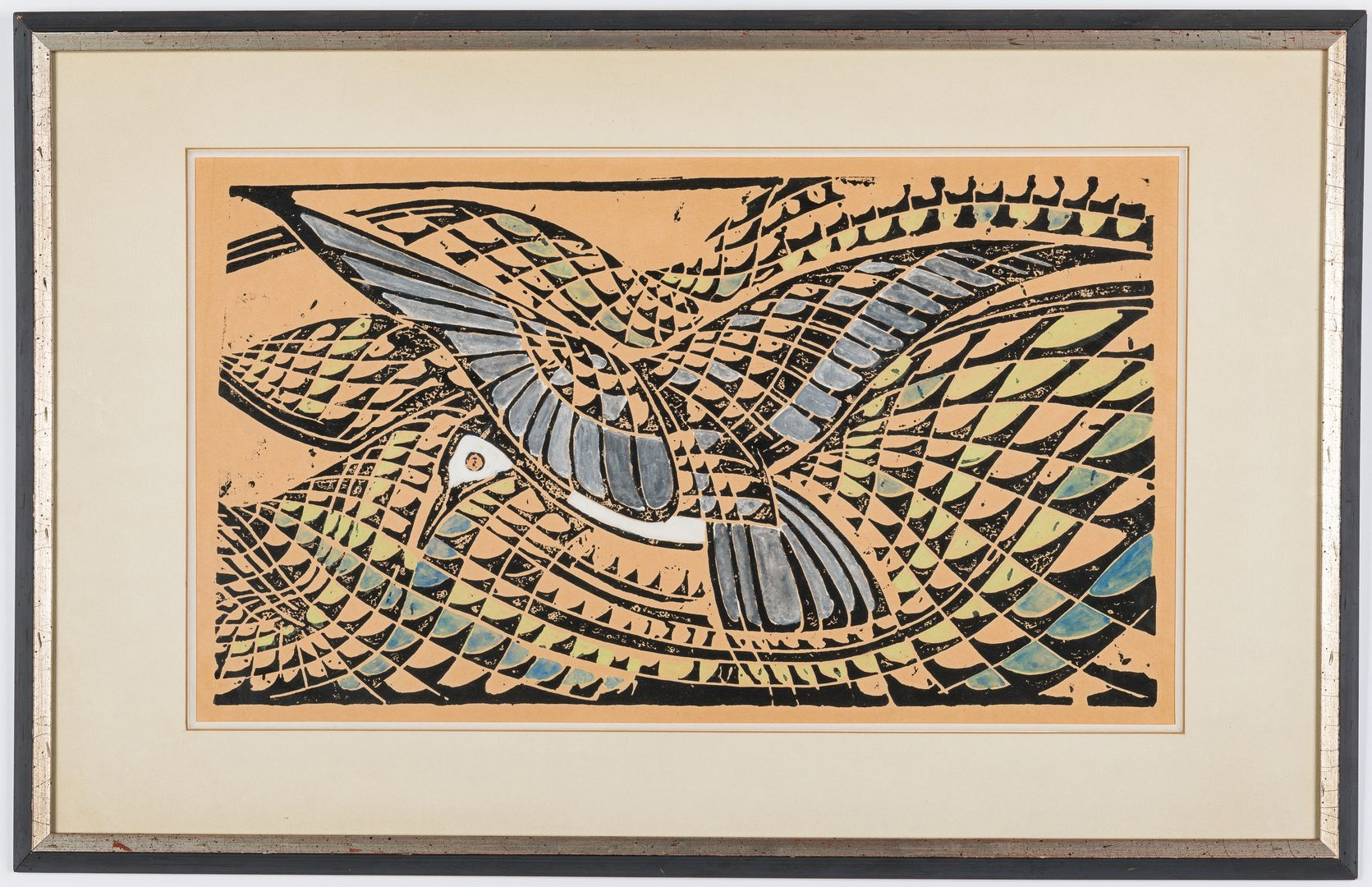 "Lot 233: After Walter Inglis Anderson Silkscreen, ""Least Tern"""