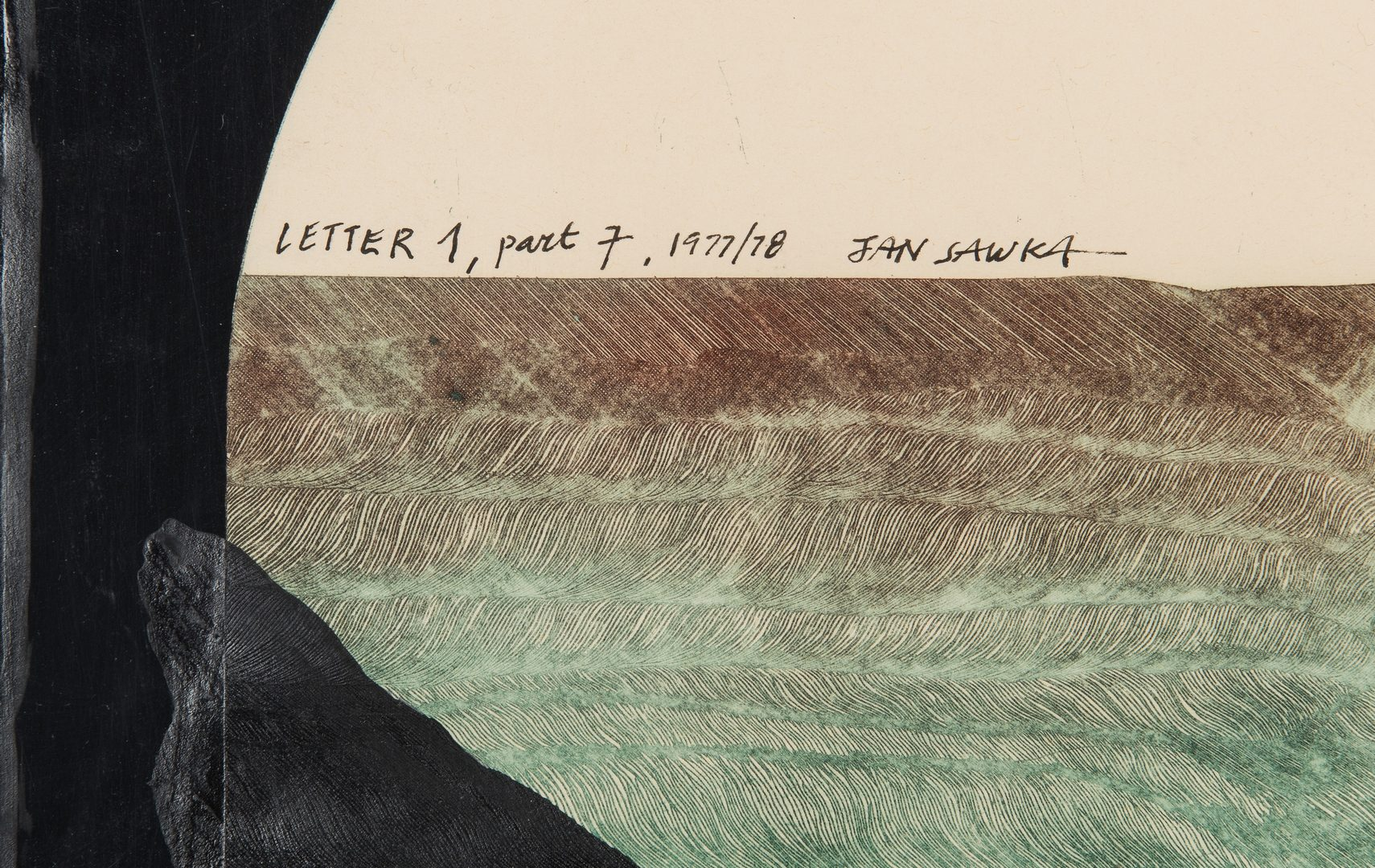 Lot 234: Jan Sawka Seven Part Mixed-Media Series, Letter 1