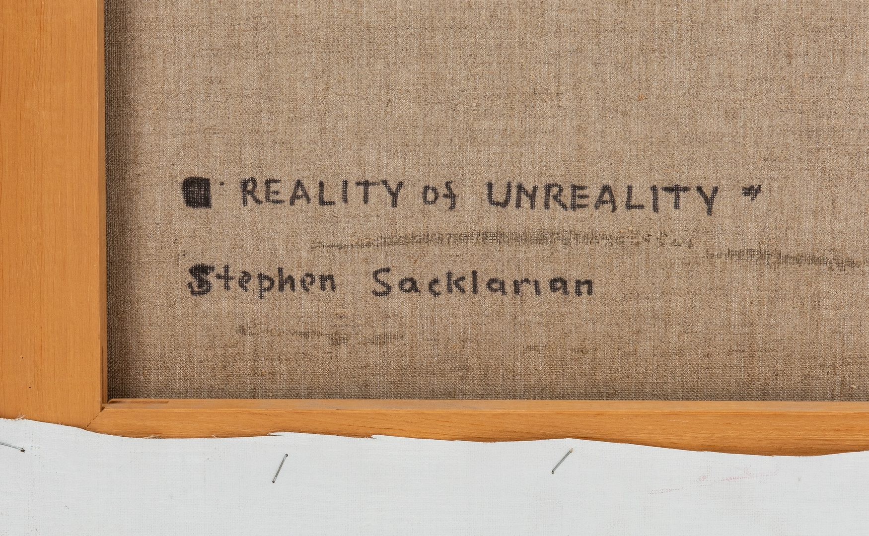 Lot 236: Reality of Unreality (E-2) by Sacklarian