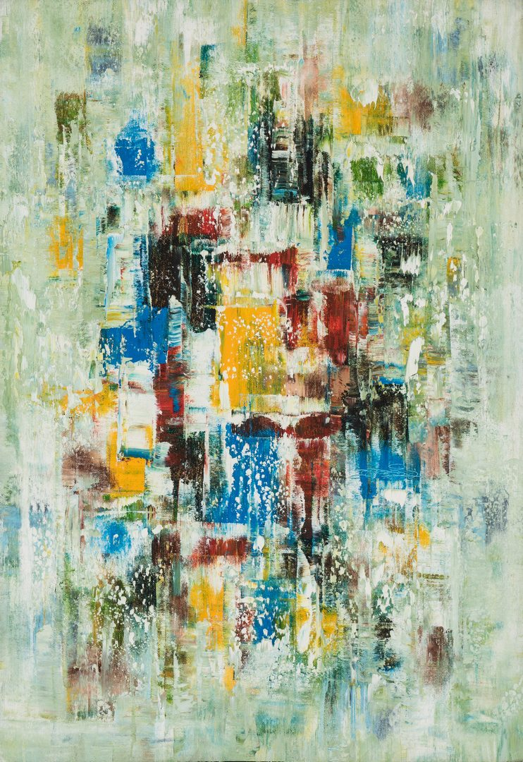 Lot 237: Signed Abstract Expressionist O/C Painting