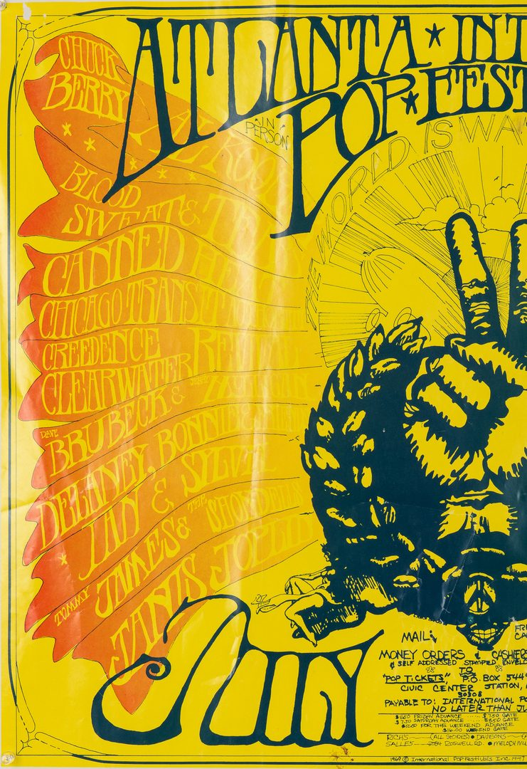 Lot 238:  2 Vintage Music Posters inc. Celebration of Life