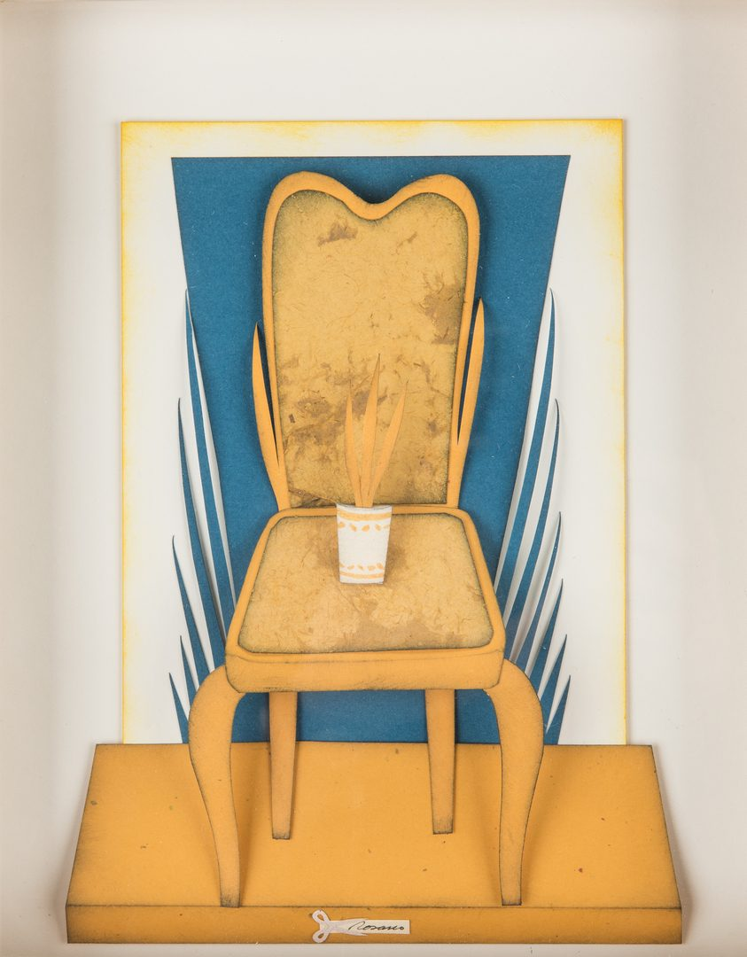 Lot 239: Jorge Rosano 3D Framed Chair