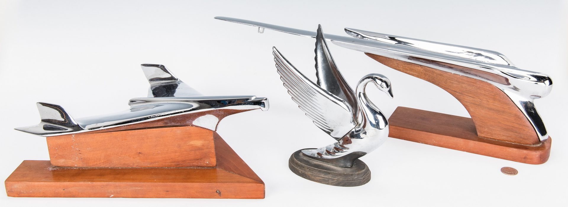 Lot 240: 3 Vintage Chrome Car Hood Ornaments