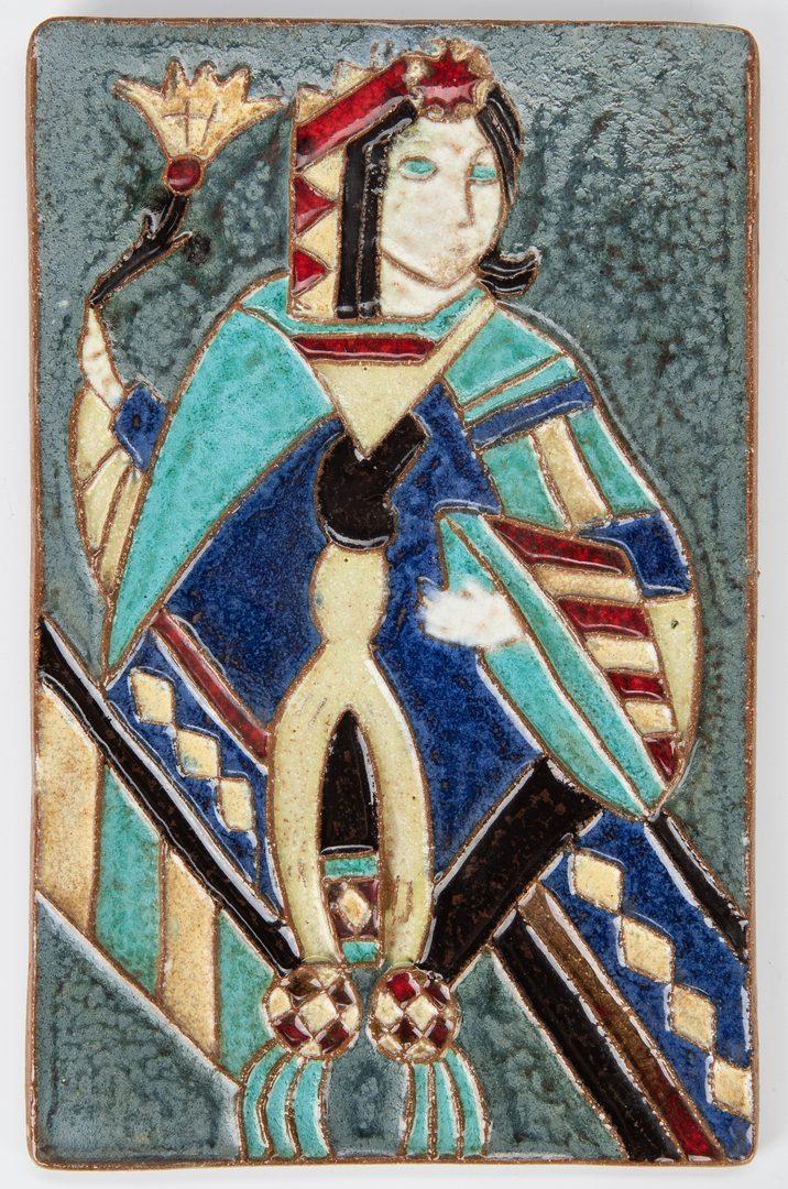 Lot 241: 4 Pcs Van Briggle Art Pottery, 2 Ceramic Tiles & 2