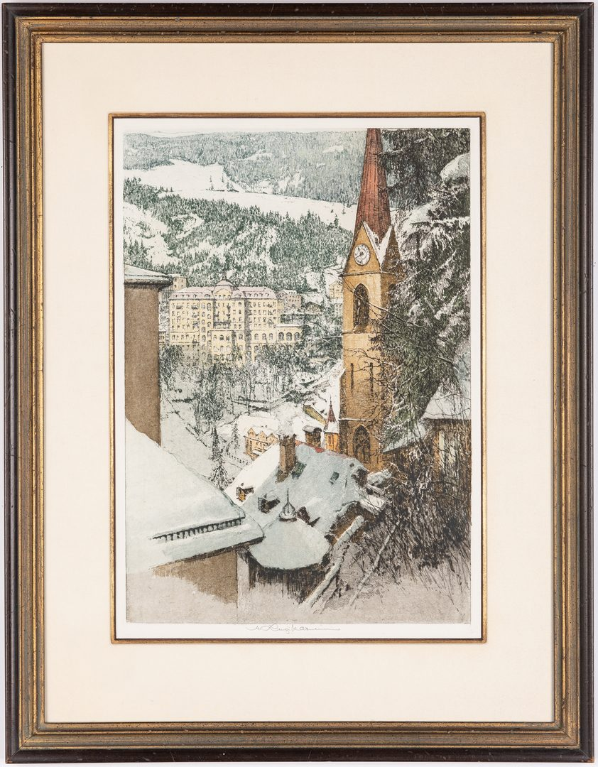 Lot 243: 3 Kasimir Colored Etchings
