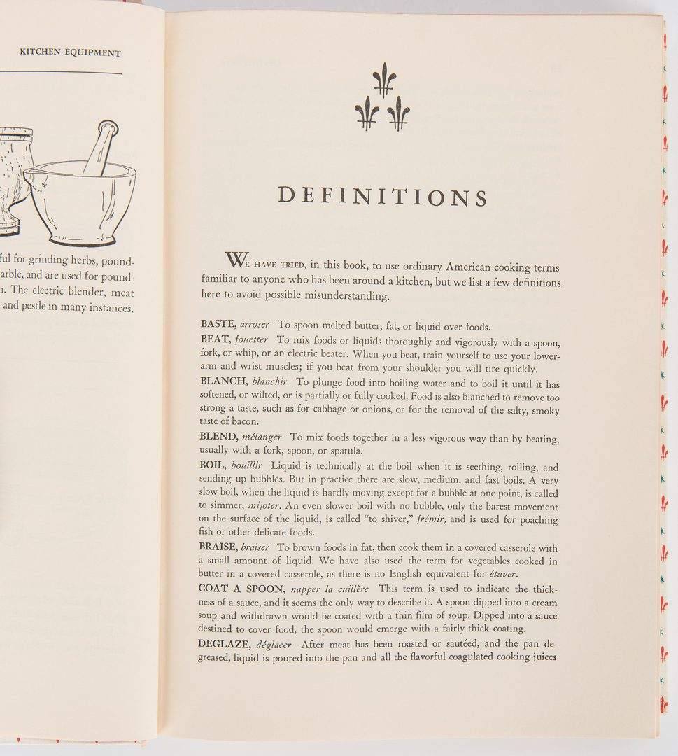 Lot 246: Mastering the Art of French Cooking, First Edition, Julia Childs, et al.