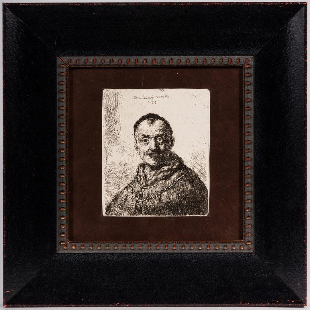 Lot 254: After Rembrandt, 6 Amand Durand Portrait Heliogravures