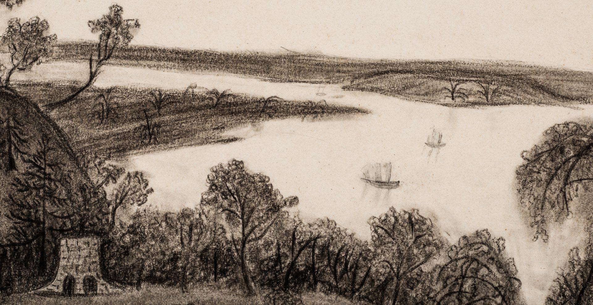 Lot 256: George Washington Tomb Drawing, 1850