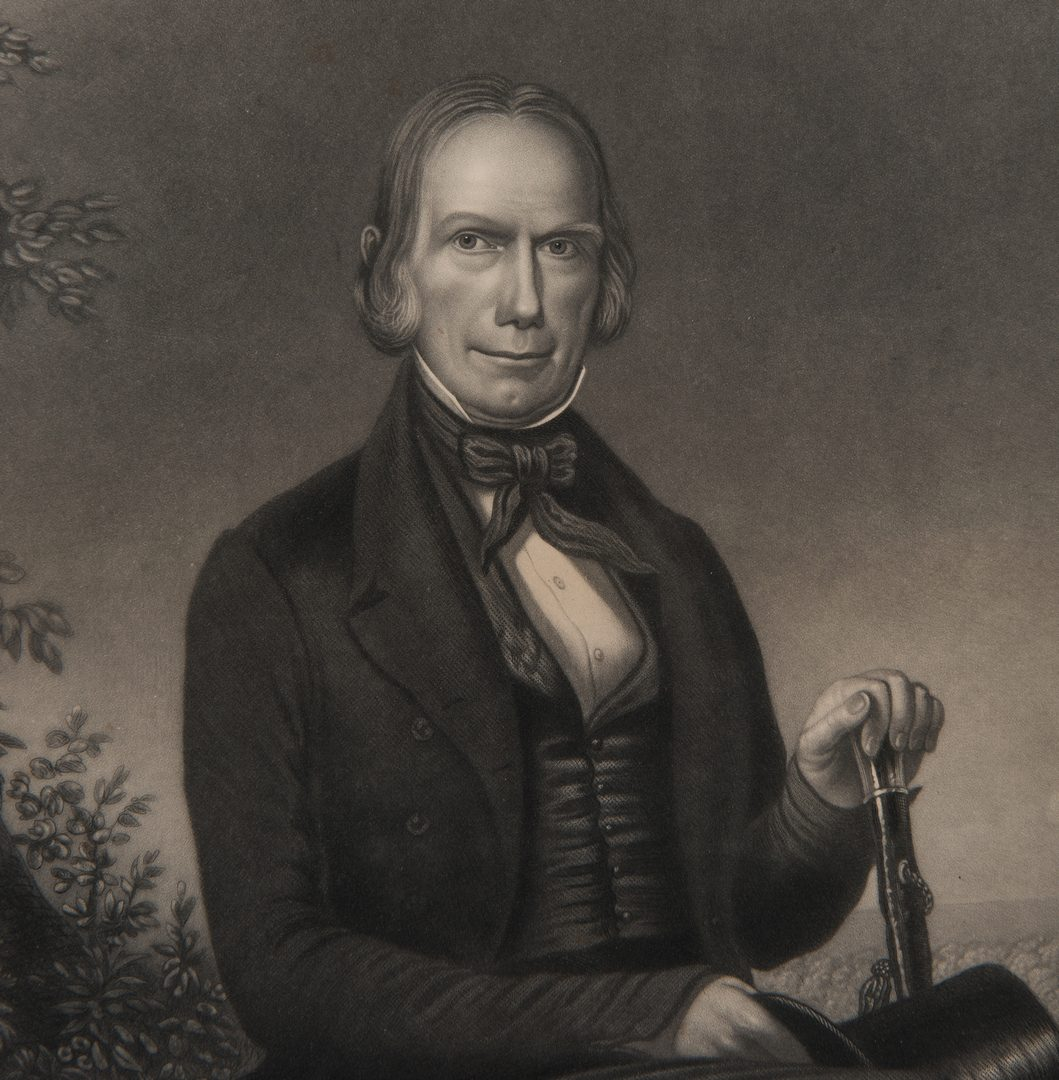 Lot 258: Henry Clay print after John Wood Dodge